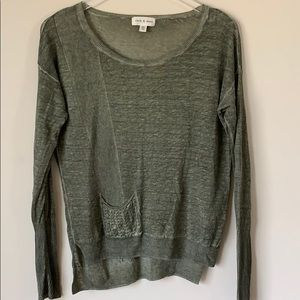 Cloth & Stone sweater sz XS linen & tencel knit